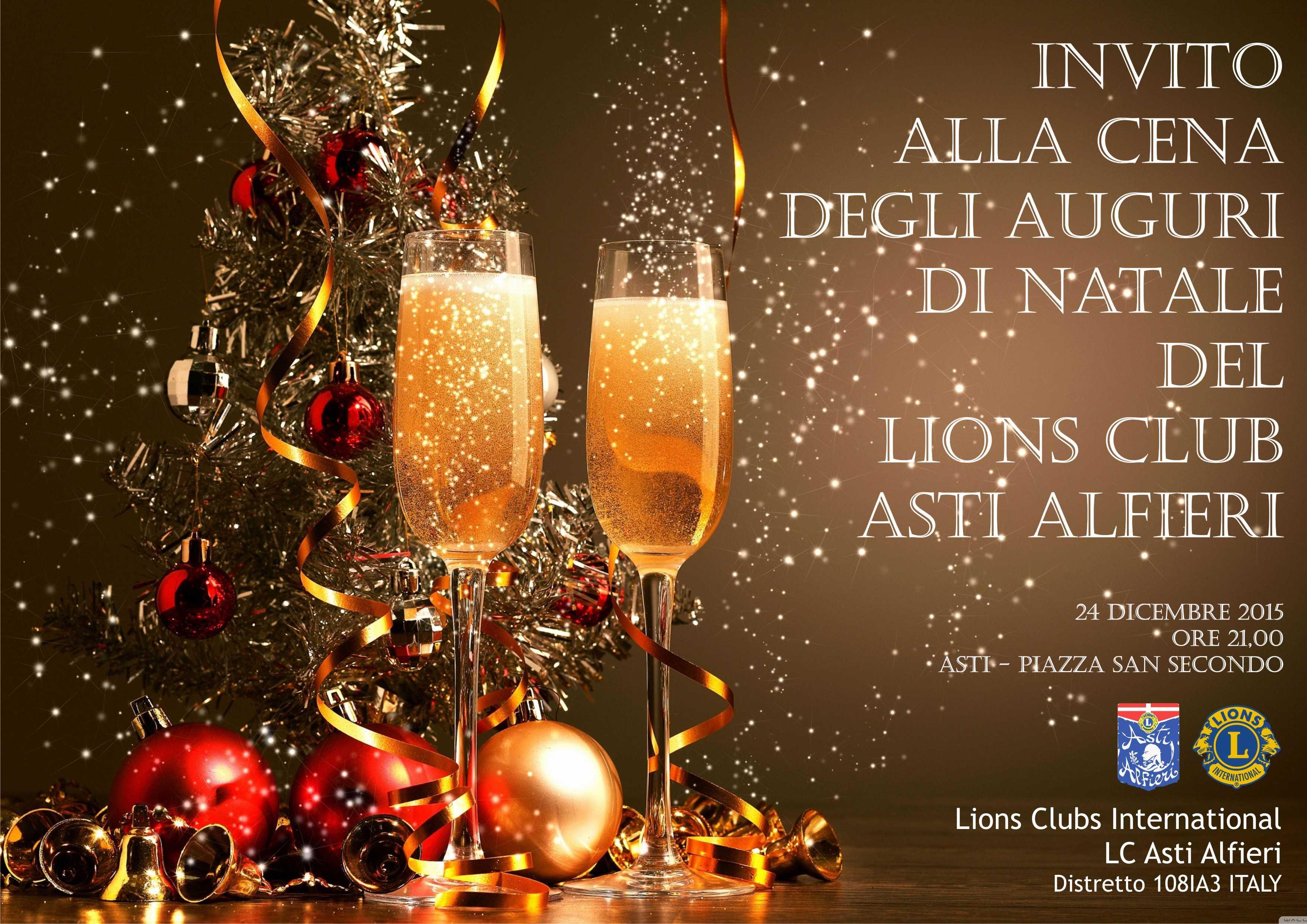 Cena Auguri Di Natale.Invito Alla Cena Degli Auguri Di Natale Del Lions Club Asti Alfieri Distretto Lions 108ia3