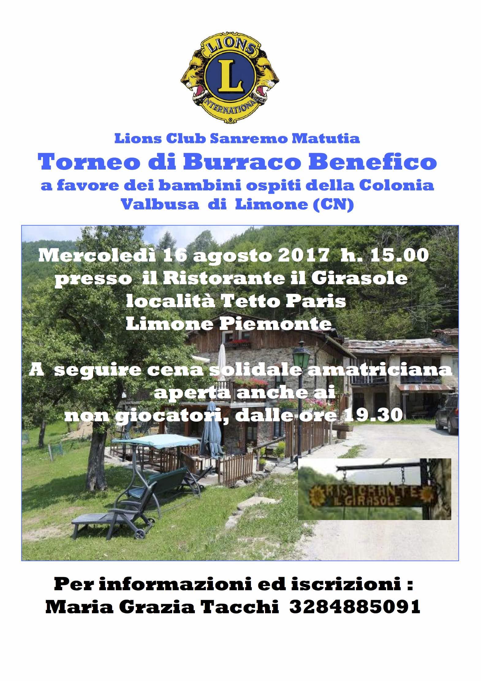 locandina burraco limone 2017