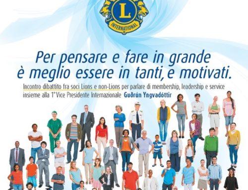 La FVIP Gudrun Yngvaddotir a Napoli l'11 marzo: un invito a tutti i Lions a partecipare dal CC Mauro Bianchi