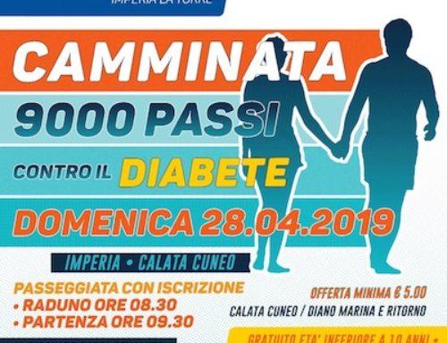 """""""Camminata 9000 passi contro il diabete"""":  Il LC Imperia La Torre ai nastri di partenza!"""