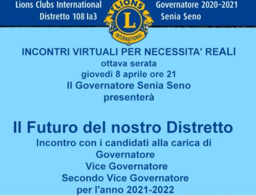 Il futuro del nostro distretto: incontro con i candidati a SVDG, FVDG, DG per l'anno 2021/22